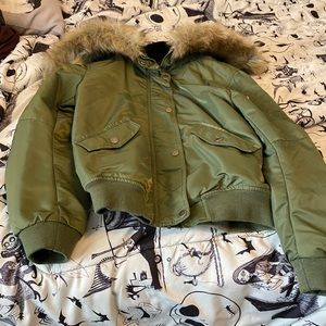 Mossimo supply green coat size small